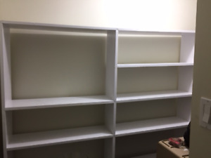 Shelves - approx 6'x6' solid wood. Moving so only $30!