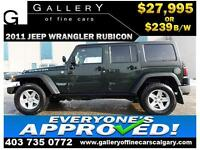 2011 JEEP WRANGLER RUBICON $239 bi-weekly APPLY NOW DRIVE NOW