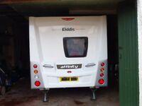 2013 Elddis Affinity 4 berth caravan with fixed double bed.