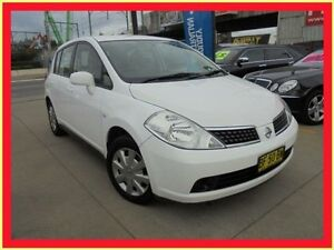 2008 Nissan Tiida C11 MY07 ST White 4 Speed Automatic Hatchback Holroyd Parramatta Area Preview