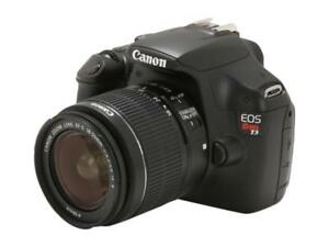 Canon EOS T3 DSLR with 18-55mm lens