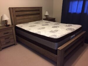 Queen Bed Frame, Mattress & Box Spring