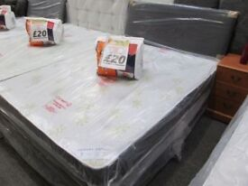 NEW Double Bed Divan Base & Orthopaedic Firm Mattress