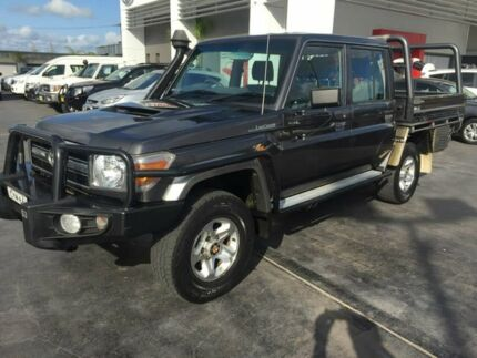 2015 Toyota Landcruiser VDJ79R GXL Double Cab Grey 5 Speed Manual Cab Chassis East Maitland Maitland Area Preview
