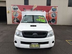 2010 Toyota Hilux KUN26R MY10 SR White 5 Speed Manual 2D Cab Chassis Gosford Gosford Area Preview