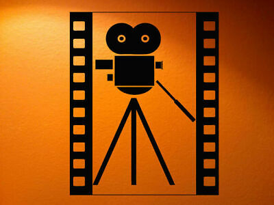 Wall Decal Vinyl Sticker Bedroom Movie Action Film Reel Camera Video  bo2591 for sale  Shipping to India