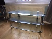 TV Unit/TV Stand - Clear Glass £15