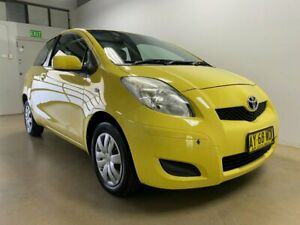 2008 Toyota Yaris NCP90R YR Yellow 5 Speed Manual Hatchback Phillip Woden Valley Preview