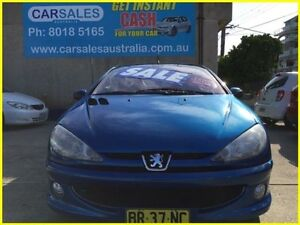 2006 Peugeot 206 T1 MY04 CC Blue 5 Speed Manual Cabriolet Kogarah Rockdale Area Preview