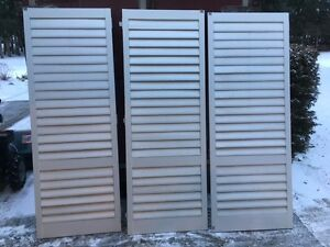 Wood louvered Doors!