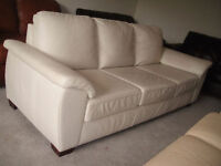 """3 PCS HIGH END 100% LEATHER SOFA SET FROM """"CHESTERFIELD SHOP"""""""