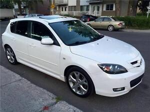 2008 MAZDA 3 , AUTOMATIQUE  ,AIR CLIMATISE, TOIT OUVRANT ,4 CYLI