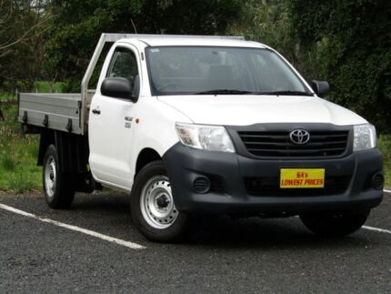 2011 Toyota Hilux TGN16R MY10 Workmate White 4 Speed Automatic Cab Chassis