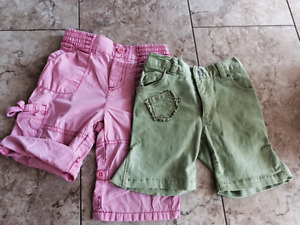 Children's Place Girls Capri, Size 12 Months