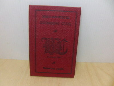 Brunswick Swimming Club Camberwell Membership Fixtures Booklet Season 1908