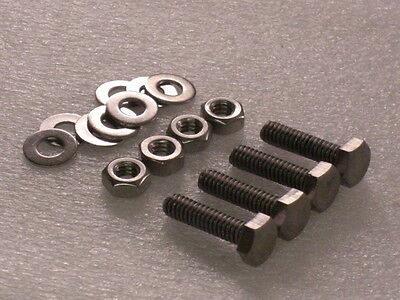 """4x 1/4 BSW x 5/8"""" Whitworth Stainless Hex Bolts Nut Washer VINTAGE CAMERA TRIPOD"""