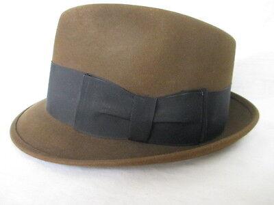 Vintage Knox Fedora New York * brown - slightly olive  Hat  size 7