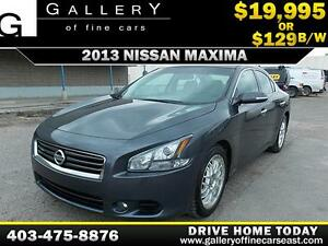 2013 Nissan Maxima 3.5 V6 SV $129 bi-weekly APPLY NOW DRIVE NOW