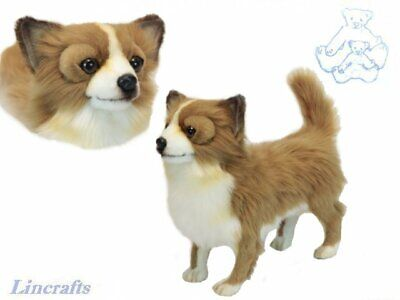 Hansa Brown & White Chihuahua 6503 Soft Toy Sold by Lincrafts Established...