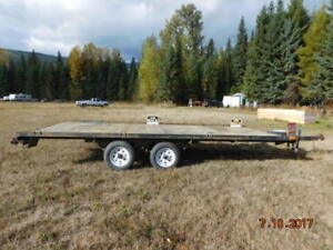 Flat bed trailer.