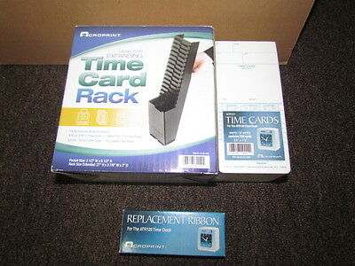 Acroprint Time Card Rack Ribbon And Time Cards For Model Atr121 120r..time Clock