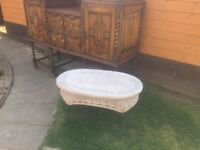 Lovely Shabby Chic Wicker Rattan Table Only £25 - Great Condition