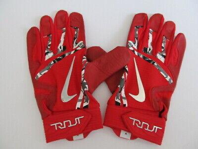 e125455e2e8d4 Nike Trout Elite Batting Gloves University Red Wolf Grey Chrome XL