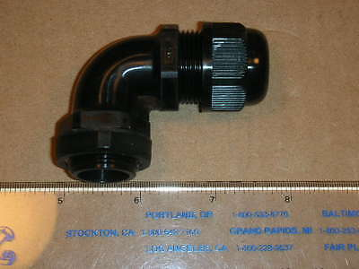 Avc 5pcs Black Elbow Cable Gland Strain Relief Liquidtite Waterproof Connector