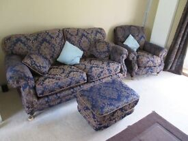 Sofa, Chair, and 20m+ of Next Cream Upholstery Fabric
