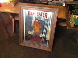 Beef Eater Dry Gin Mirrored Sign