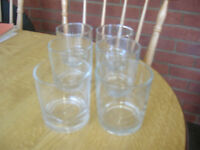6 Clear Glasses ( 3 Matching Pairs )