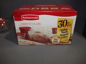 Rubbermaid 30 Piece Food Storage Containers