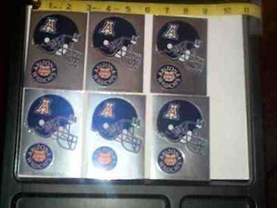 6 sheets NCAA Helmet - logo stickers Arizona Wildcats - Ncaa Arizona Wildcats Helmet