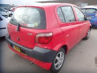 2001 TOYOTA YARIS 1.0 BREAKING FOR PARTS & SPARES, THIS ADD ONLY FOR DRIVER SIDE REAR DOOR GLASS