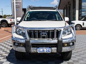 2010 Toyota Landcruiser Prado KDJ150R VX White 5 Speed Sports Automatic Wagon