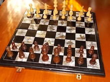 Vintage Shell Inlay CHESS Board & Pces. Armidale City Preview