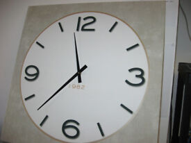 Large size wall clock, printer on canvas