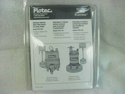 Flotec Universal Vertical Style Float Switch Sump Pump Fps17-66 New