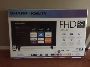 """SHARP 50"""" 1080p HD LED Roku OS Smart TV - BRAND NEW (in the box)"""