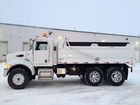 Snow Removal Truck Hauling