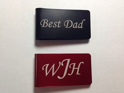 Personalized Engraved Money Clip Six Colors - Dad Father's Day Best Man Wedding](Father's Day Colors)