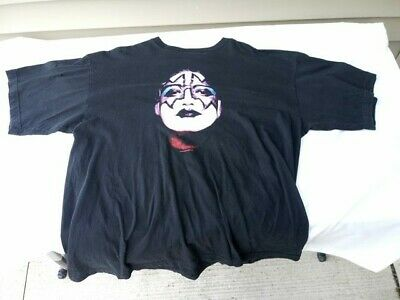 Kiss vintage Ace Frehley 2002 T-shirt Face Size XL aucoin simmons stanley