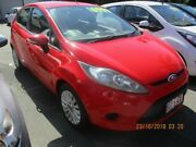 2011 Ford Fiesta WT Red 5 Speed Manual Hatchback Lawnton Pine Rivers Area Preview