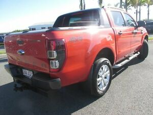 2013 Ford Ranger PX Wildtrak Double Cab Chilli Orange 6 Speed Sports Automatic Utility Mackay Mackay City Preview