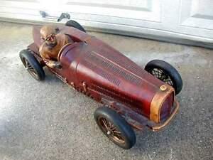 RARE VINTAGE 30 inch WOODEN 1930's BUGATTI TYPE GRAND PRIX BOAT