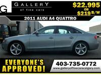 2011 Audi A4 2.0T QUATTRO $219 bi-weekly APPLY NOW DRIVE NOW