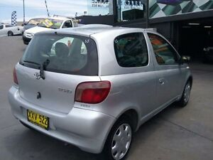 2002 Toyota Echo NCP10R Silver 5 Speed Manual Hatchback Greenacre Bankstown Area Preview