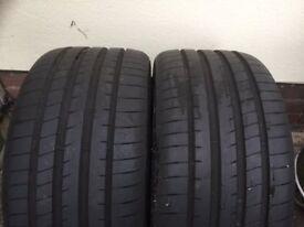 2X Googyear Eagle F1 Asymmetric Tyres 255/30 R19 91Y 7.5 mmTread