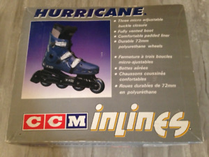 CCM Hurricane Roller Blades, Size 12. Only worn twice, First $20