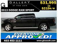 2013 DODGE RAM SPORT CREW *EVERYONE APPROVED* $0 DOWN $219/BW